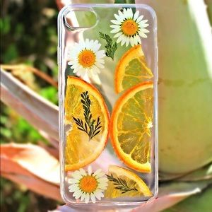 Accessories - Handmade Pressed flowers/ fruits Phone Case